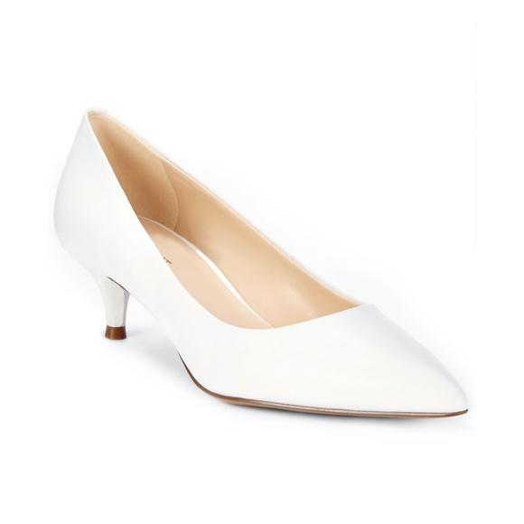 New Nine West White Kitten Heel Size 5